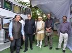 Shri Manish Desai, Shri K.R.Dixit, Shir Kiran Shantaram and Shri Mike Pandey at the wildlife photo exhibition at the event.