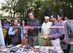 Shri Kiran Shantaram inaugrates the Films Division marketing stall at the Chanda International Documentary Film Festival, Chandrapur.