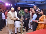 All the Dignitaries Lighting the ceremonial lamp of the Chanda International Documentary Film Festival