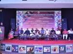Shri K.R.Dixit addressing the audience at the Chanda International Documentary Film Festival.