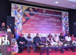 Shri Hansrajji Ahir, Hon. Minister of State for Home Affairs, GoI addressing the audience during the Chanda International Documentary Film Festival.